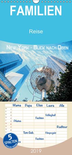 New York – Blick nach oben – Familienplaner hoch (Wandkalender 2019 , 21 cm x 45 cm, hoch) von by Wolfgang Schömig,  Luxscriptura