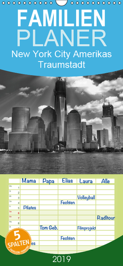 New York City Amerikas Traumstadt – Familienplaner hoch (Wandkalender 2019 , 21 cm x 45 cm, hoch) von Wulf,  Guido