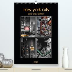 New York City – Color Glow Edition (Premium, hochwertiger DIN A2 Wandkalender 2020, Kunstdruck in Hochglanz) von Krause,  Kurt