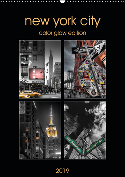 New York City – Color Glow Edition (Wandkalender 2019 DIN A2 hoch) von Krause,  Kurt
