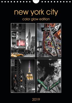 New York City – Color Glow Edition (Wandkalender 2019 DIN A4 hoch) von Krause,  Kurt