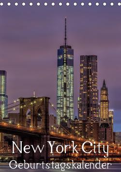 New York City Geburtstagskalender (Tischkalender 2021 DIN A5 hoch) von Klinder,  Thomas