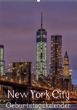New York City Geburtstagskalender (Wandkalender 2021 DIN A2 hoch) von Klinder,  Thomas