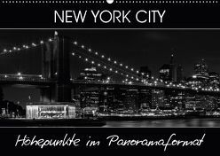 NEW YORK CITY Höhepunkte im Panoramaformat (Wandkalender 2018 DIN A2 quer) von Viola,  Melanie