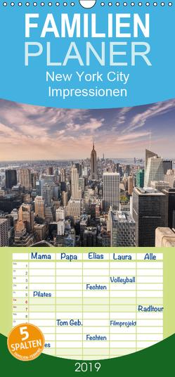 New York City Impressionen / Geburtstagskalender – Familienplaner hoch (Wandkalender 2019 , 21 cm x 45 cm, hoch) von Aatz,  Markus