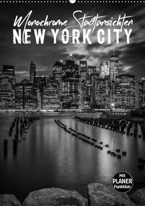 NEW YORK CITY Monochrome Stadtansichten (Wandkalender 2018 DIN A2 hoch) von Viola,  Melanie