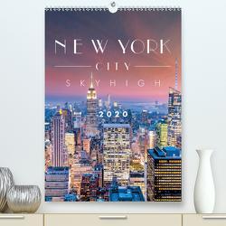 New York City Sky High (Premium, hochwertiger DIN A2 Wandkalender 2020, Kunstdruck in Hochglanz) von Kilmer,  Sascha