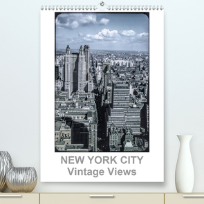 NEW YORK CITY – Vintage Views (Premium, hochwertiger DIN A2 Wandkalender 2021, Kunstdruck in Hochglanz) von Schulz-Dostal,  Michael