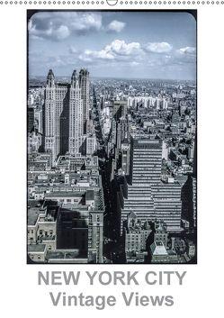 NEW YORK CITY – Vintage Views (Wandkalender 2018 DIN A2 hoch) von Schulz-Dostal,  Michael