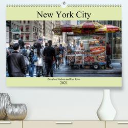 New York City – Zwischen Hudson und East River (Premium, hochwertiger DIN A2 Wandkalender 2021, Kunstdruck in Hochglanz) von Härlein,  Peter