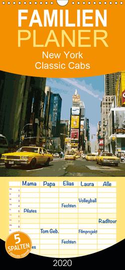 New York Classic Cabs – Familienplaner hoch (Wandkalender 2020 , 21 cm x 45 cm, hoch) von Freiwah Oldtimer-Art.de,  Tom