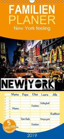 New York feeling – Familienplaner hoch (Wandkalender 2019 , 21 cm x 45 cm, hoch) von Pinkoss Photostorys,  Oliver
