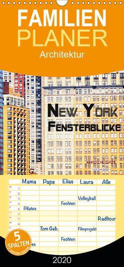 New York – Fensterblicke – Familienplaner hoch (Wandkalender 2020 , 21 cm x 45 cm, hoch) von by Wolfgang Schömig,  Luxscriptura