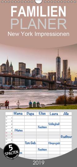 New York Impressionen – Familienplaner hoch (Wandkalender 2019 , 21 cm x 45 cm, hoch) von Sielaff,  Marcus