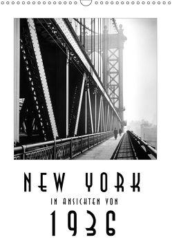 New York in Ansichten von 1936 (Wandkalender 2018 DIN A3 hoch) von Mueringer,  Christian