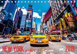 New York in Colors 2019 (Tischkalender 2019 DIN A5 quer) von SEIFINGER,  TOBY