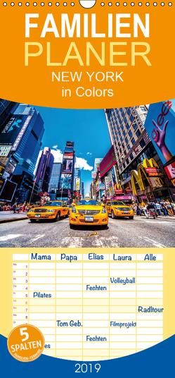 New York in Colors – Familienplaner hoch (Wandkalender 2019 , 21 cm x 45 cm, hoch) von SEIFINGER,  TOBY