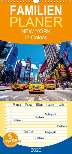 New York in Colors – Familienplaner hoch (Wandkalender 2020 , 21 cm x 45 cm, hoch) von SEIFINGER,  TOBY