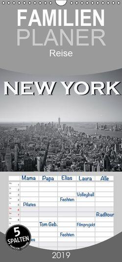 New York in schwarz weiss – Familienplaner hoch (Wandkalender 2019 , 21 cm x 45 cm, hoch) von Styppa,  Robert