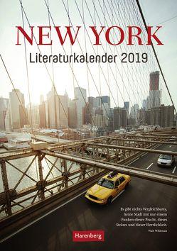 New York Literaturkalender – Kalender 2019 von Anders,  Ulrike, Harenberg