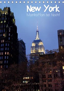 New York – Manhattan bei Nacht (Tischkalender 2020 DIN A5 hoch) von Thiem-Eberitsch,  Jana