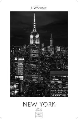 New York schwarz-weiss 2022 L 59x42cm von Schawe,  Heinz-werner