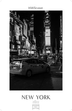 New York schwarz-weiss 2022 S 29x21cm von Schawe,  Heinz-werner