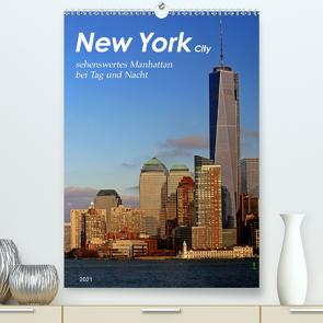 New York – sehenswertes Manhattan bei Tag und Nacht (Premium, hochwertiger DIN A2 Wandkalender 2021, Kunstdruck in Hochglanz) von Thiem-Eberitsch,  Jana