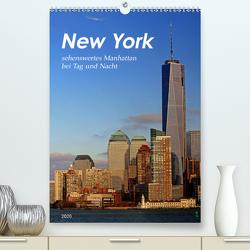 New York – sehenswertes Manhattan bei Tag und Nacht (Premium, hochwertiger DIN A2 Wandkalender 2020, Kunstdruck in Hochglanz) von Thiem-Eberitsch,  Jana