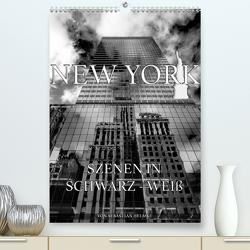 New York – Szenen in Schwarz – Weiß (Premium, hochwertiger DIN A2 Wandkalender 2021, Kunstdruck in Hochglanz) von Helmke,  Sebastian