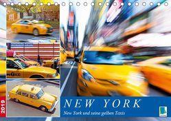 New York und seine gelben Taxis (Tischkalender 2019 DIN A5 quer) von CALVENDO