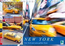 New York und seine gelben Taxis (Tischkalender 2020 DIN A5 quer) von CALVENDO