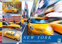 New York und seine gelben Taxis (Wandkalender 2019 DIN A3 quer) von CALVENDO