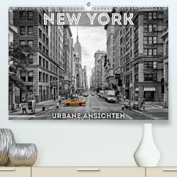 NEW YORK Urbane AnsichtenCH-Version (Premium, hochwertiger DIN A2 Wandkalender 2021, Kunstdruck in Hochglanz) von Viola,  Melanie
