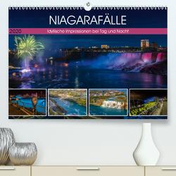 NIAGARAFÄLLE Idyllische Impressionen bei Tag und Nacht (Premium, hochwertiger DIN A2 Wandkalender 2020, Kunstdruck in Hochglanz) von Viola,  Melanie