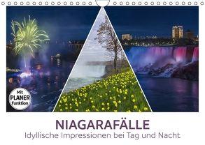 NIAGARAFÄLLE Idyllische Impressionen bei Tag und Nacht (Wandkalender 2018 DIN A4 quer) von Viola,  Melanie