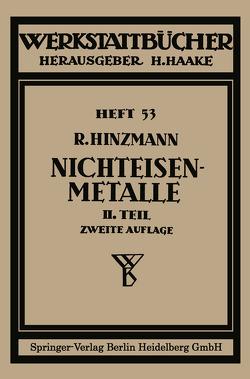 Nichteisenmetalle von Hinzmann,  Reinhold