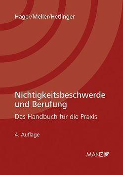 Nichtigkeitsbeschwerde und Berufung von Hager,  Gerhard, Hetlinger,  Christa, Meller,  Heinz