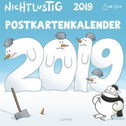 Nichtlustig Postkartenkalender 2019 von Sauer,  Joscha