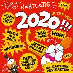 Nichtlustig Postkartenkalender 2020 von Sauer,  Joscha