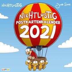 Nichtlustig Postkartenkalender 2021 von Sauer,  Joscha