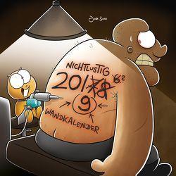 Nichtlustig Wandkalender 2019 von Sauer,  Joscha