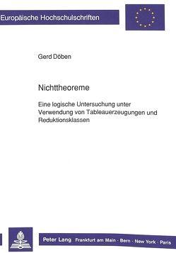Nichttheoreme von Döben,  Gert-Dietrich