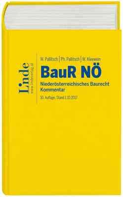 Niederösterreichisches Baurecht von Kleewein,  Wolfgang, Pallitsch,  Philipp, Pallitsch,  Wolfgang
