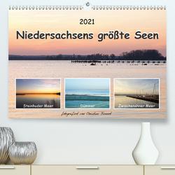 Niedersachsens größte Seen (Premium, hochwertiger DIN A2 Wandkalender 2021, Kunstdruck in Hochglanz) von Bienert,  Christine