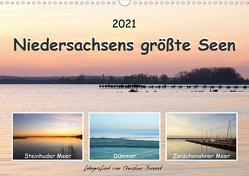 Niedersachsens größte Seen (Wandkalender 2021 DIN A3 quer) von Bienert,  Christine