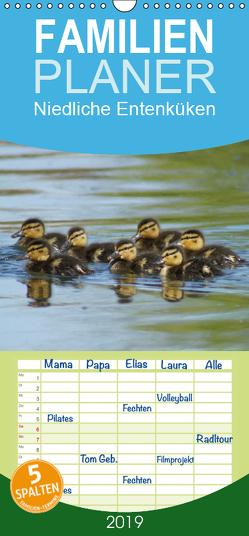 Niedliche Entenküken – Familienplaner hoch (Wandkalender 2019 , 21 cm x 45 cm, hoch) von kattobello
