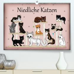 Niedliche Katzen (Premium, hochwertiger DIN A2 Wandkalender 2021, Kunstdruck in Hochglanz) von Creation / Petra Haberhauer,  Pezi