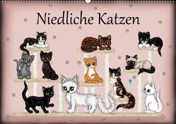 Niedliche Katzen (Wandkalender 2021 DIN A2 quer) von Creation / Petra Haberhauer,  Pezi