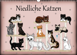 Niedliche Katzen (Wandkalender 2021 DIN A3 quer) von Creation / Petra Haberhauer,  Pezi